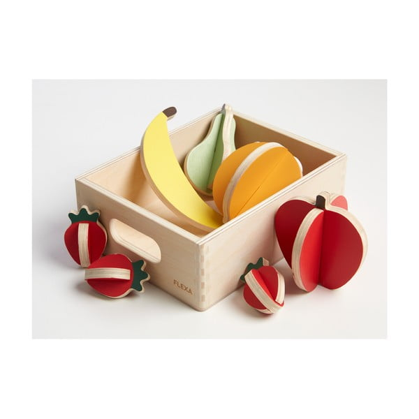 Drevený detský hrací set Flexa Play Shop Fruits