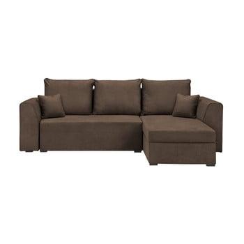Canapea/colțar extensibil Cosmopolitan design Dover maro