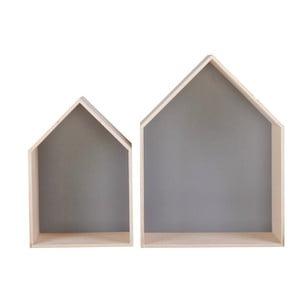 Sada 2 šedých poliček Nørdifra House