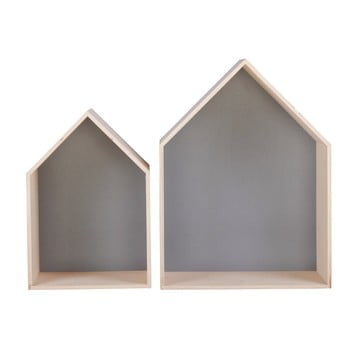 Set 2 rafturi Nørdifra House, gri