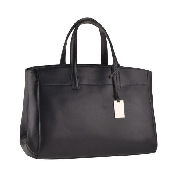 Kožená kabelka Emilio Masi Propus, černá
