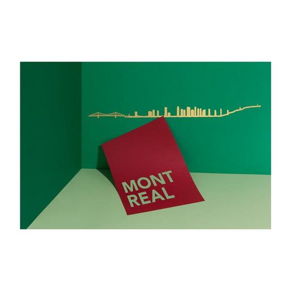 Pozlacená nástěnná dekorace se siluetou města The Line Montreal