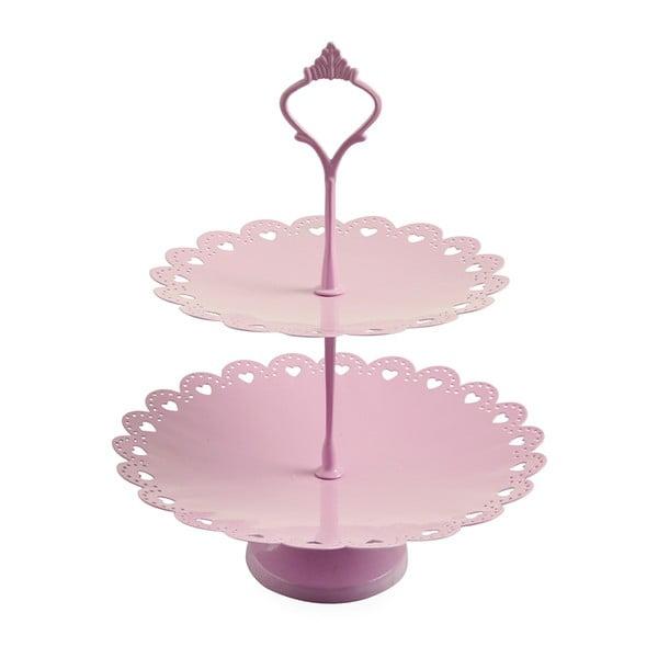 Dvojitý stojan na dortíky Traforata Rose