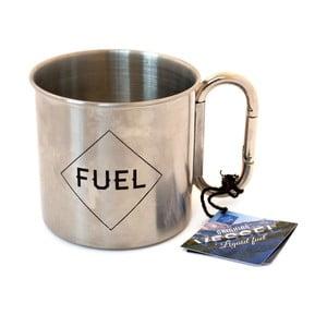Šedý cestovní hrnek Gift Republic Wild Life Enamel Mug