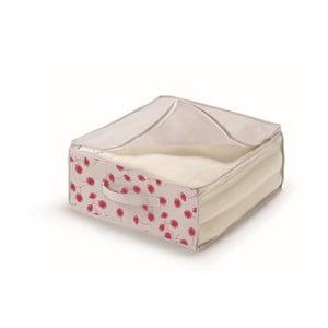Růžovobílý úložný box na přikrývky  Cosatto Poisf,45x45cm