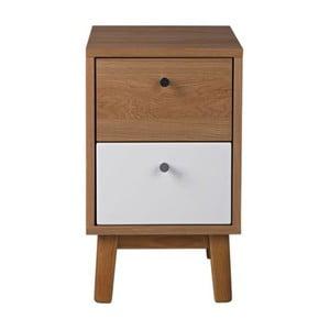 Noční stolek v dubovém dekoru se 2 zásuvkami Jitona Merrik