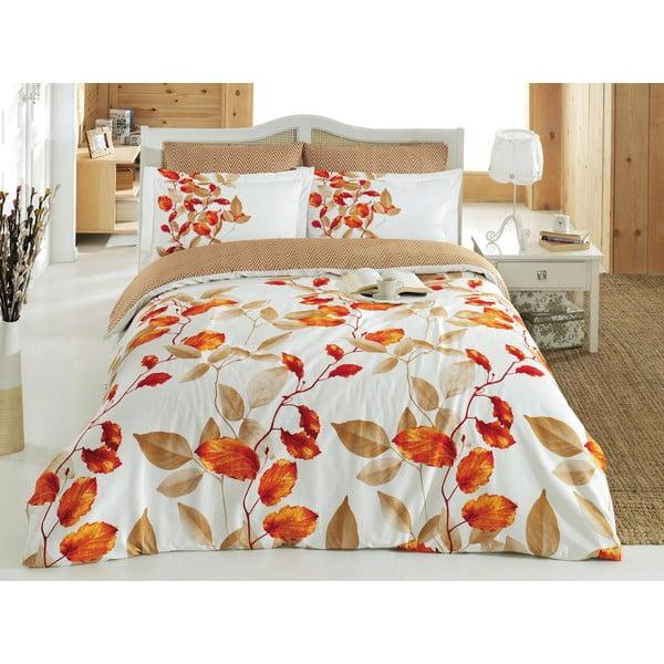 Lenjerie de pat din bumbac cu cearșaf Fade, 200 x 220 cm