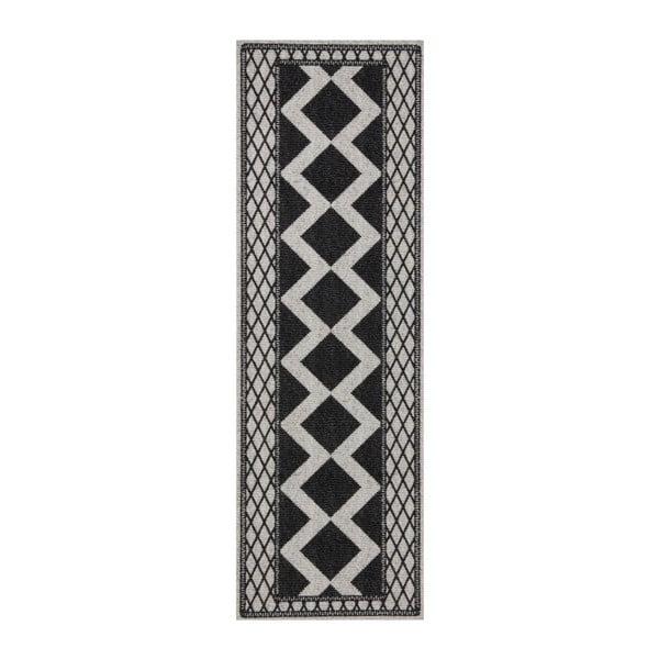 Šedo-černý běhoun Hanse Home Cook & Clean Peggy, 60x180cm