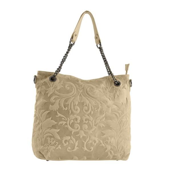 Taupe kožená taška Greta