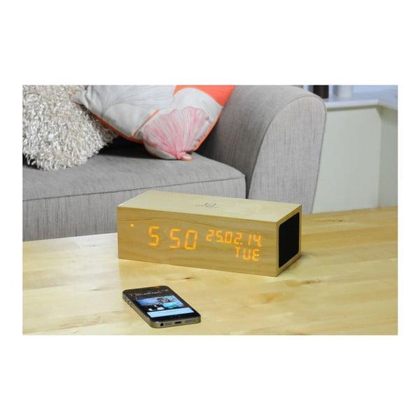 Reproduktor Oak Click Clock s oranžovým LED budíkem