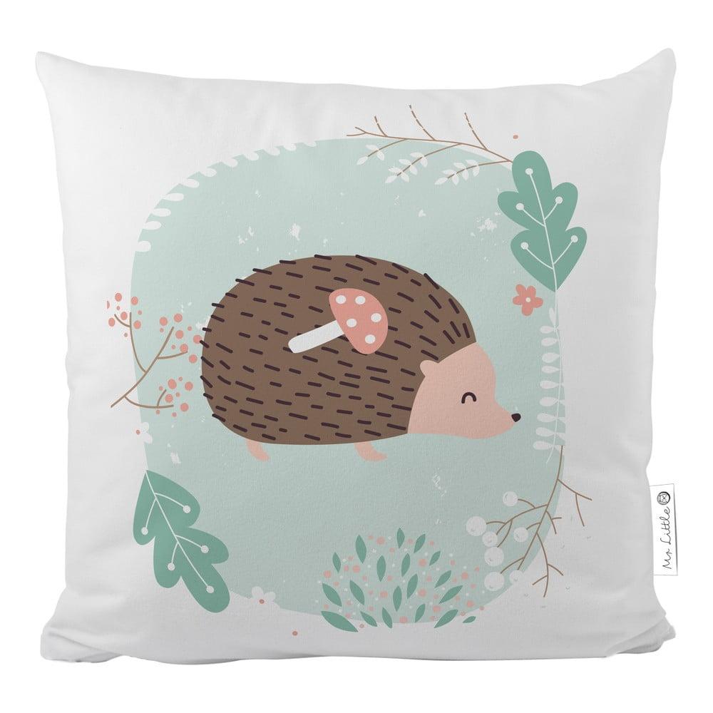 Povlak na polštář z bavlněného saténu Mr. Little Fox Dear Friends Hedgehog, 50x50cm