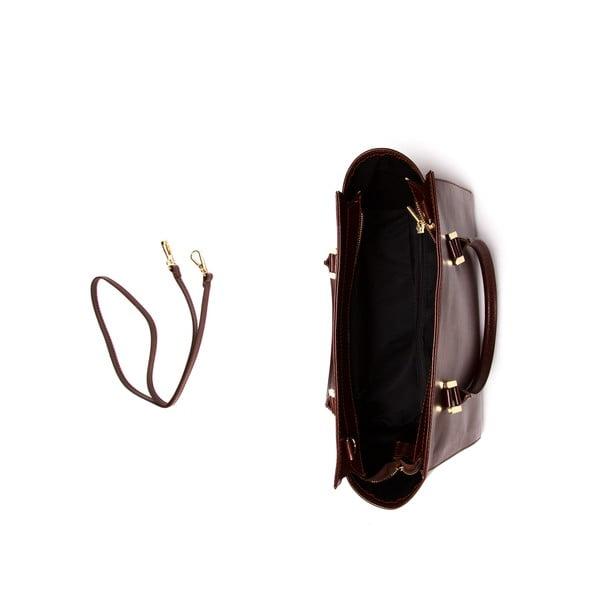 Kožená kabelka Mangotti 382 Marrone