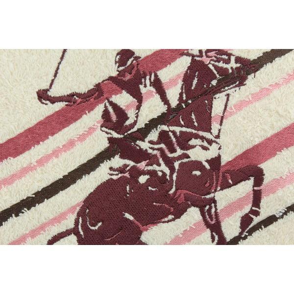 Krémovo-růžový bavlněný ručník BHPC Velvet, 50x100 cm