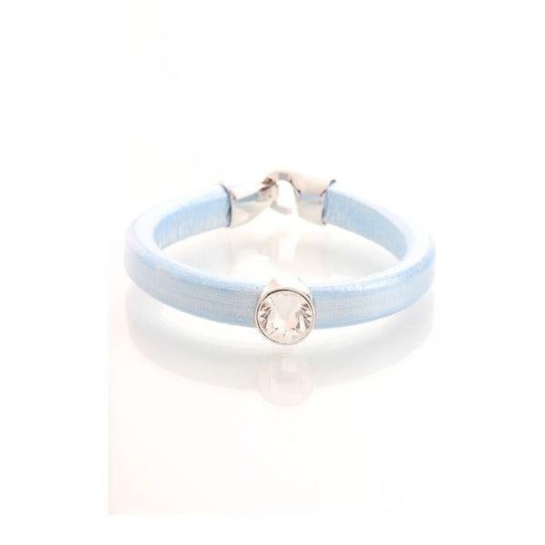 Modrý náramek se Swarovski krystaly Yasmine Clap