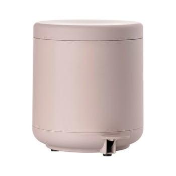 Coș de gunoi cu pedală pentru baie Zone UME, 4 l, roz de la Zone