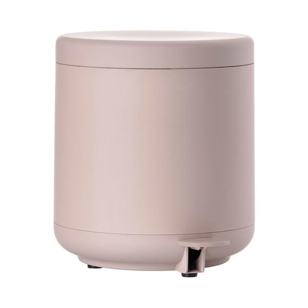 Coș de gunoi cu pedală pentru baie Zone UME, 4 l, roz