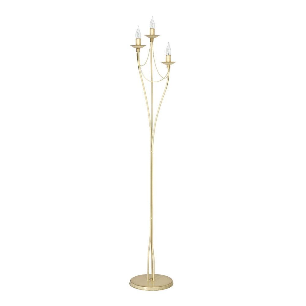 Krémová volně stojící lampa Glimte Patina, výška 164 cm