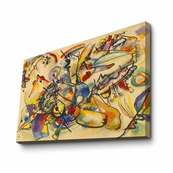 Reproducere tablou pe pânză Kandinsky Yellow, 100 x 70 cm