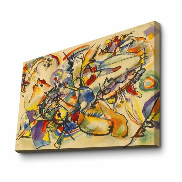 Fali vászon kép Kandinsky Yellow másolat, 100 x 70 cm