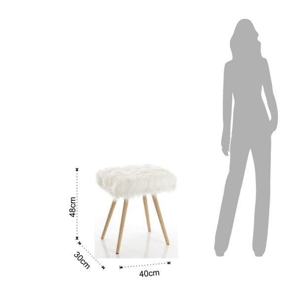 Bílá stolička s nohami z dubového dřeva Tomasucci Cloud, 40x30x48cm