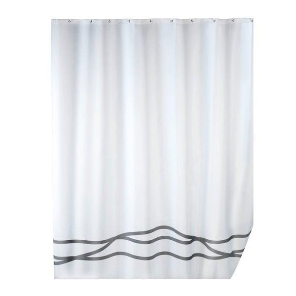 Biała zasłona prysznicowa z powierzchnią antypleśniową Wenko Noa, 180x200 cm