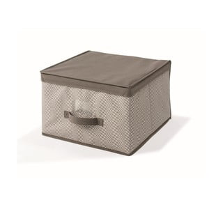 Hnědý uložný box s víkem Cosatto Twill,40x40cm