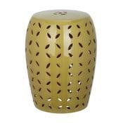 Zelený porcelánový stolek Safavieh  Atticus Khaki