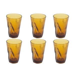 Sada 6 sklenic Kaleidos 340 ml, amber