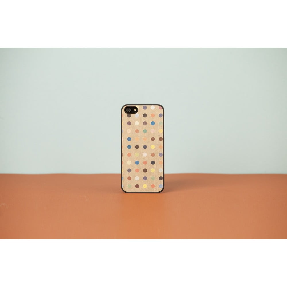 Dřevěný obal na iPhone 5 5S Colored Pois  c01f50ba634