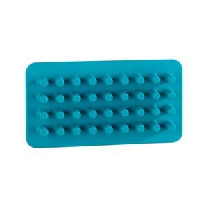 Modrý silikonový nástěnný držák na tužky/štětce/kartáčky Wenko Ampio
