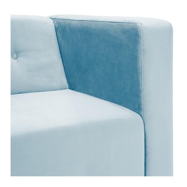 Světle modrá trojmístná pohovka Vivonita Milo
