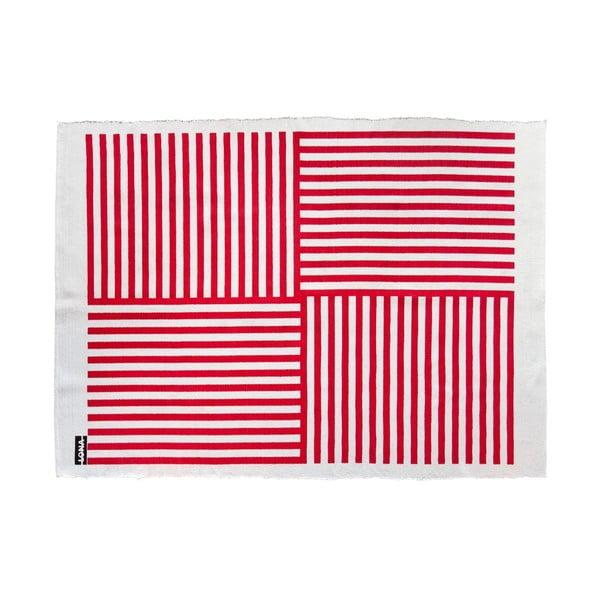 Koberec Lona Print 200x150 cm, červený/bílý