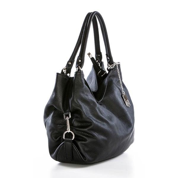 Černá kožená kabelka Federica Bassi Sirina