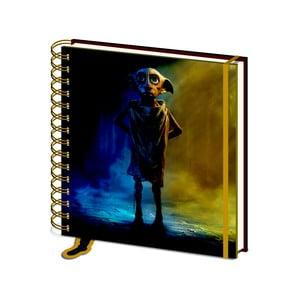 Linkovaný zápisník Pyramid International Harry Potter: Dobby, 80 stran