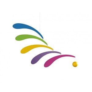 Závěsná mobilní dekorace Flowing Rhythm Rainbow