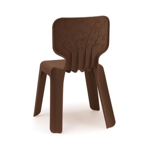 Dětská hnědá stohovatelná židle Magis Alma