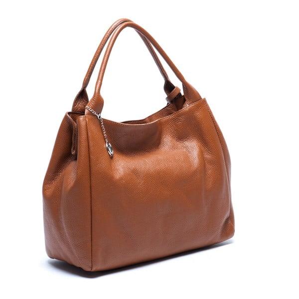 Kožená kabelka Mangotti 1110 Cognac