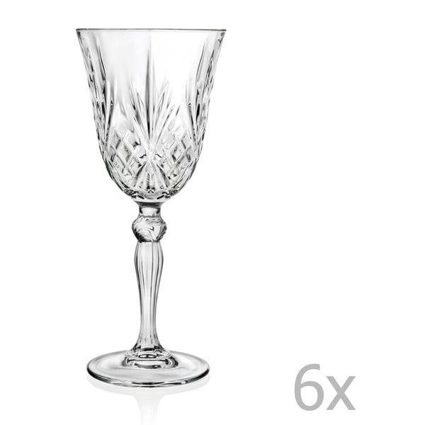 Sada 6 sklenic na sekt RCR Cristalleria Italiana Grazia, 210ml