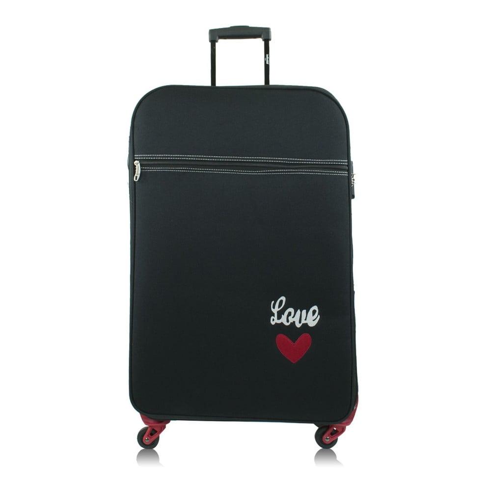 Černý kufr na kolečkách INFINITIF Love, 50 l