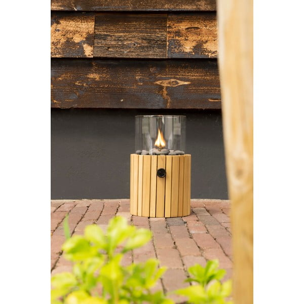 Plynová lampa Cosi Scoop Timber, výška 30 cm