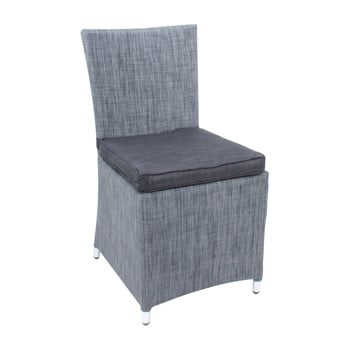 Set 2 scaune grădină cu pernă ADDU Odessa Chair, gri