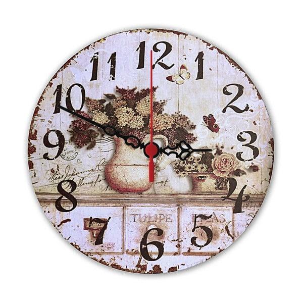 Nástěnné hodiny Floral, 30 cm