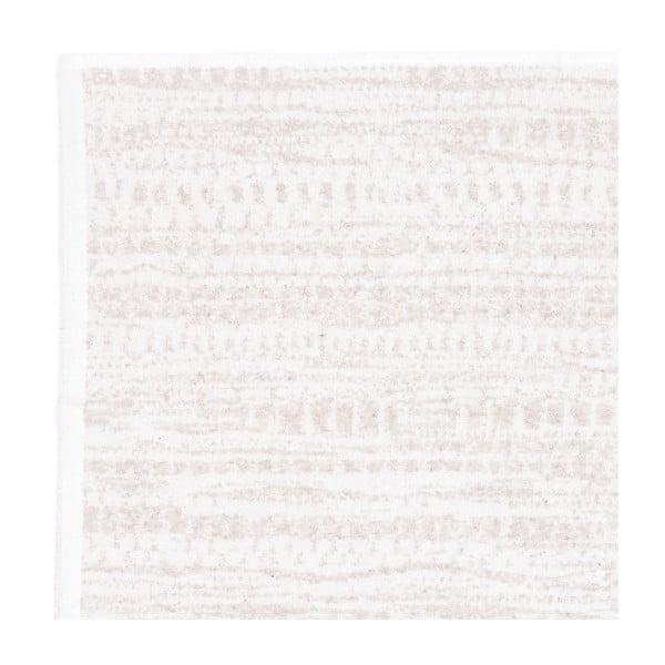 Sada 2 krémových froté osušek se vzorem Casa Di Bassi Marta, 81 x 160 cm