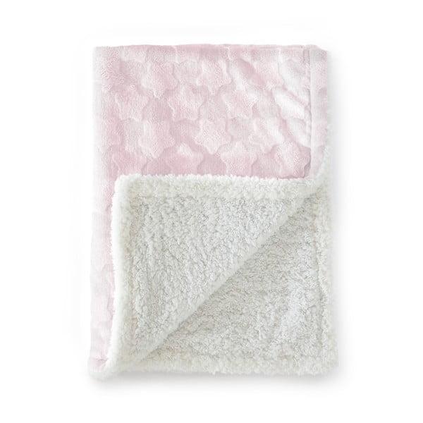 Růžová dětská deka Naf Naf Estrellas, 80x110cm