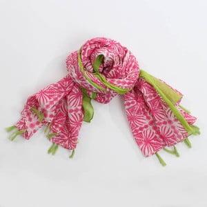 Šátek s třásněmi, zelená