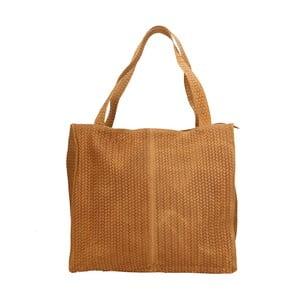 Koňakově hnědá kožená kabelka Chicca Borse Itinea