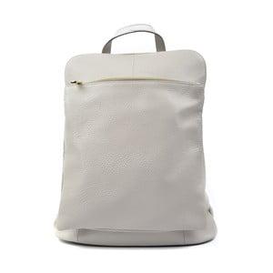 Světle šedý kožený batoh Isabella Rhea Turo