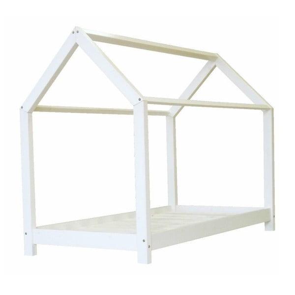 Dětská bílá postel z borovicového dřeva Benlemi Tery,80x190cm