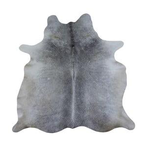 Covor din piele de vacă, 260 x 175 cm, gri