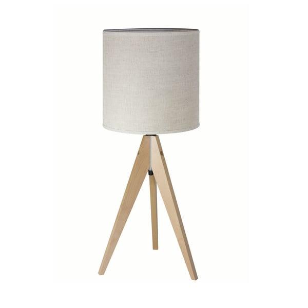 Stolní lampa Artist Grey Linnen/Birch, 40x25 cm